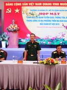 BTL Quân khu 7 họp mặt báo chí đầu Xuân Kỷ Hợi