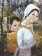 Tranh lụa Lê Thị Lựu - ánh sáng Pháp, hồn dạ Việt