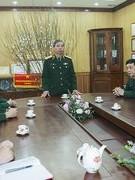 Thượng tướng Đỗ Căn đến thăm và chúc tết Tạp chí Văn nghệ Quân đội