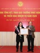 Trao giải thưởng văn học nghệ thuật 2019