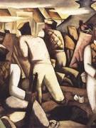 Trưng bày bức tranh tái hiện hình ảnh Hà Nội năm 1946