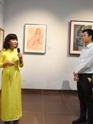 Exhibition of paintings by celebrated Vietnamese painters opens in Da Nang