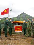 Lính biên phòng Long An chống dịch