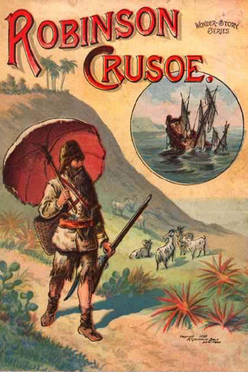 robinson crusoe book a p