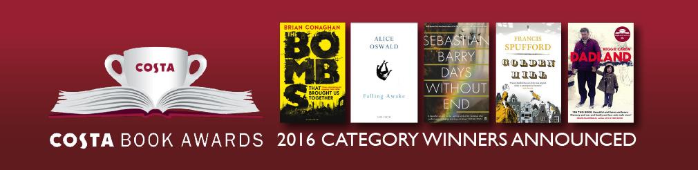 Costa Book 2016 công bố giải ở 5 hạng mục