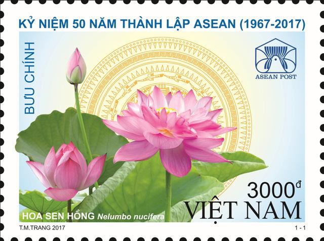 Phát hành bộ tem kỷ niệm 50 năm thành lập ASEAN